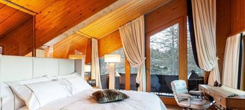Mountain chalet in village of Maloja St. Moritz